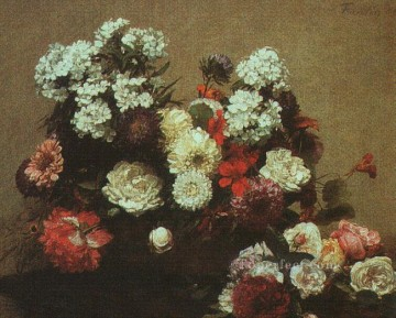 Still life Painting - Still Life with Flowers 1881 flower painter Henri Fantin Latour